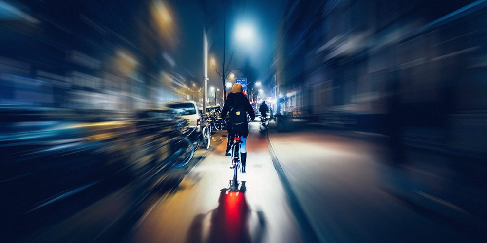 Taking photos while riding a bike