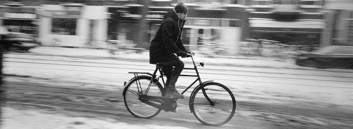 How to ride a bike in the city when it snows
