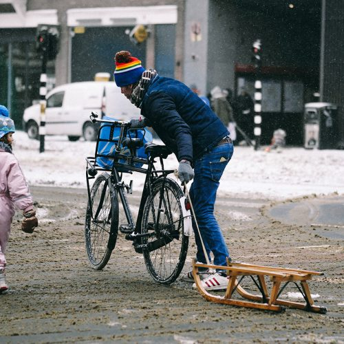 Bicycle with sled