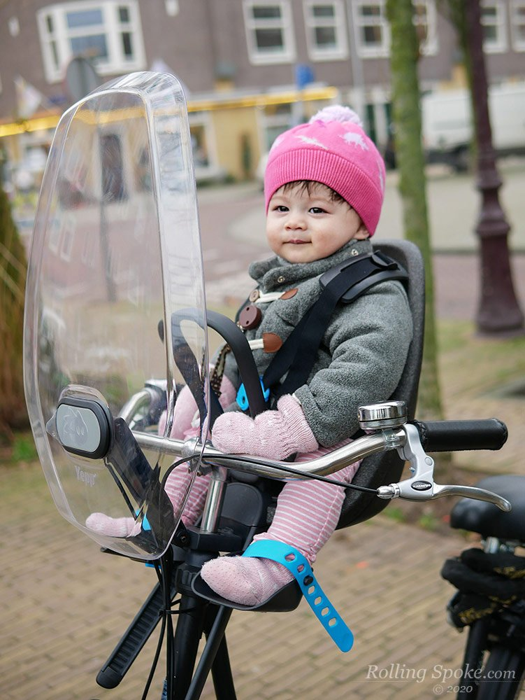First ride at 9 months old on Thule Yepp Nexxt Mini